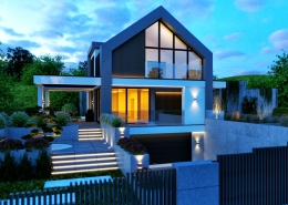 elewacja domu nowoczesna stodoła